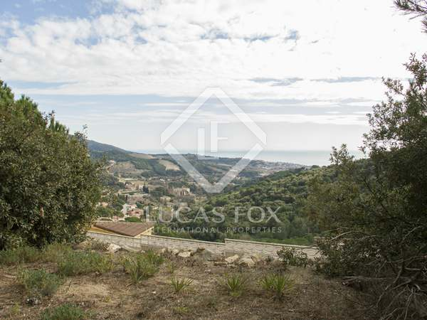 800m² building plot for sale in Alella on the Maresme Coast