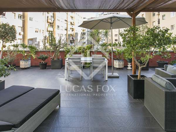 148m² apartment with 85m² terrace for rent in Turó Park