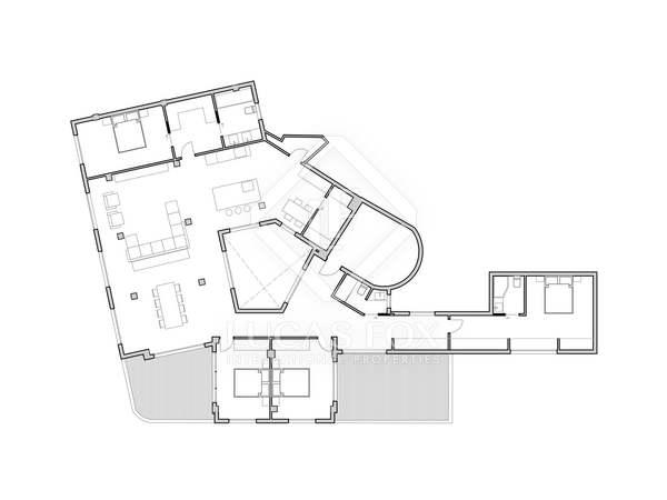 Пентхаус 272m², 35m² террасa на продажу в Сан Франсеск