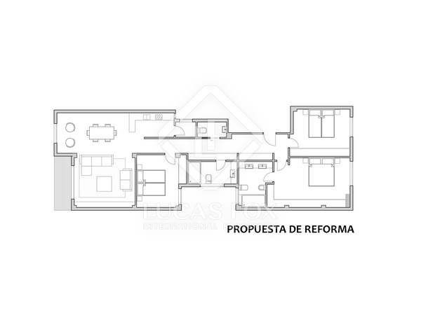 132m² Apartment for sale in Ruzafa, Valencia