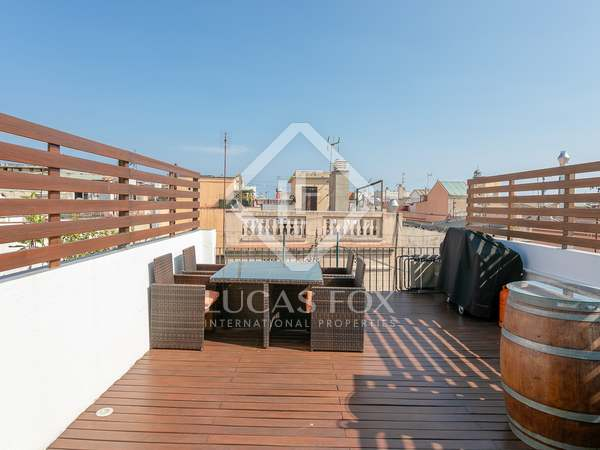 50 m² apartment with 30 m² terrace for rent in Gótico