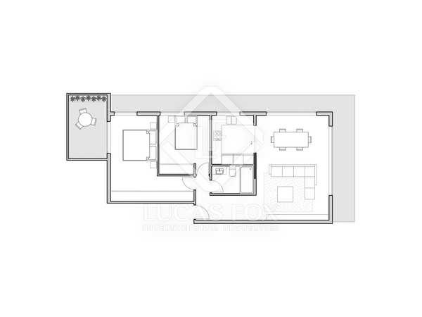 108m² Apartment with 10m² terrace for sale in La Xerea