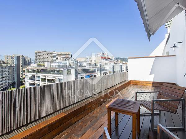 Penthouse with 100m² terrace for rent in Turó Park