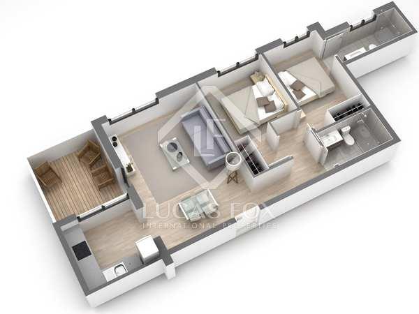 72m² Dachwohnung mit 8m² terrasse zum Verkauf in Gavà Mar