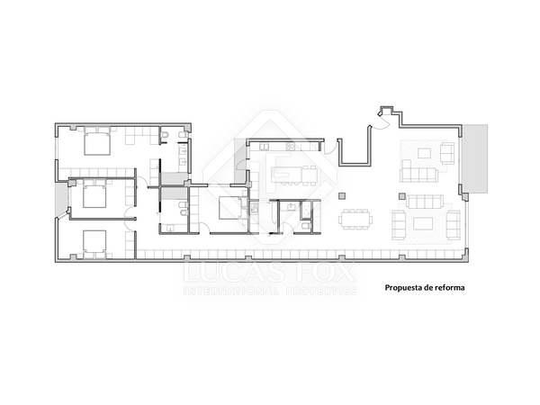 Квартира 246m² на продажу в Гран Виа, Валенсия