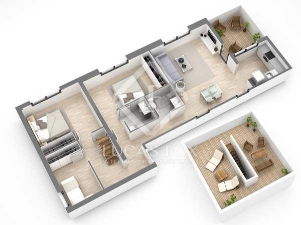 Penthouse de 106m² a vendre à Gavà Mar avec 51m² terrasse