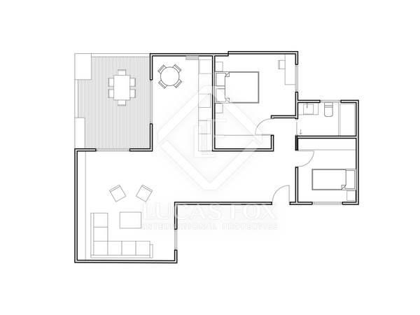 Пентхаус 90m², 15m² террасa на продажу в Сан Франсеск