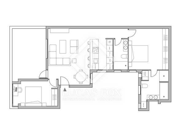 Penthouse van 118m² te koop met 16m² terras in Lista