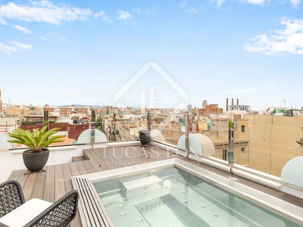 75m² Apartment with 80m² terrace for rent in Poble Sec