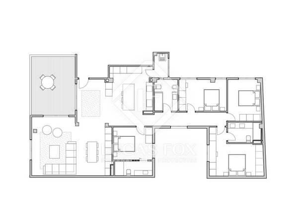 158m² Dachwohnung mit 20m² terrasse zum Verkauf in Sant Francesc