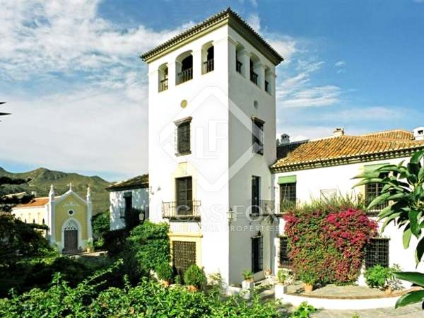 15th century mansion for sale set in lush gardens with views