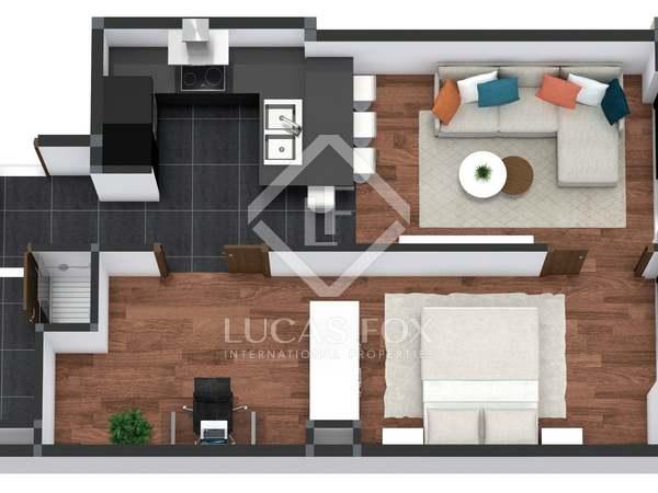Appartement de 48m² a vendre à Poblenou avec 7m² terrasse