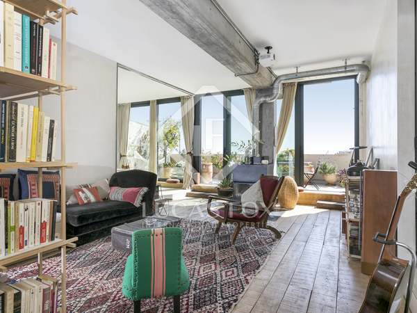 Penthouse van 150m² te huur met 40m² terras in Poblenou