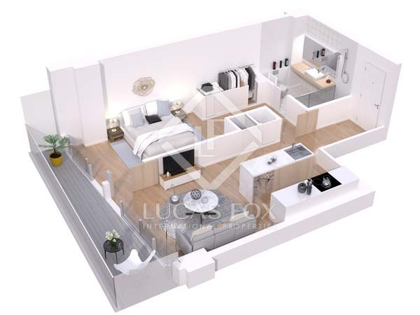 Piso de 47m² con 8m² terraza en venta en Lloret de Mar / Tossa de Mar
