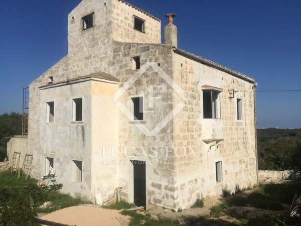 19th Century Farmouse to renovate, for sale in Menorca
