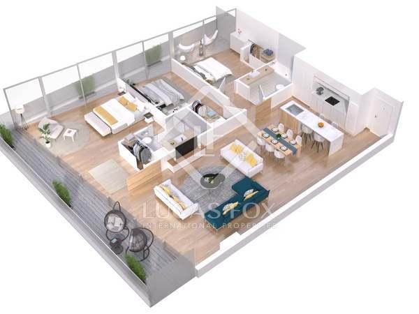 Piso de 95m² con 25m² terraza en venta en Lloret de Mar / Tossa de Mar