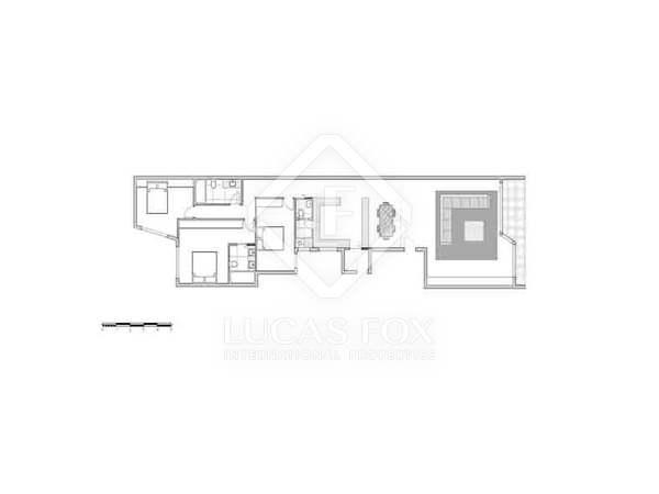 Квартира 181m², 7m² террасa на продажу в Гран Виа