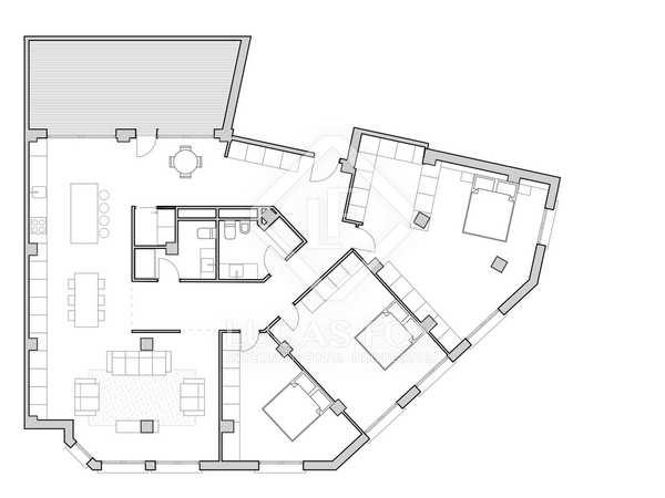 133m² Apartment with 15m² terrace for sale in Ruzafa