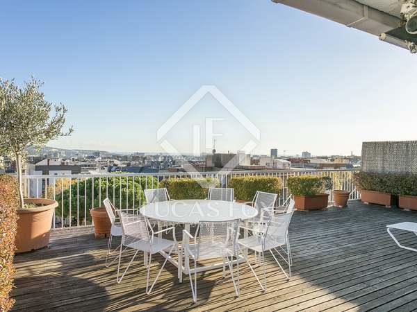 在 Sant Gervasi - La Bonanova, 巴塞罗那 97m² 出租 顶层公寓 包括 152m² 露台