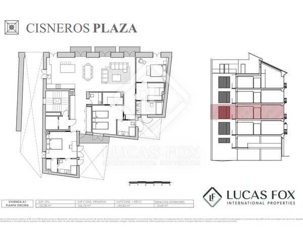 197 m² apartment with 13 m² terrace for sale in La Seu