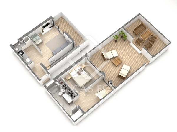 Appartement van 55m² te koop met 48m² terras in Gavà Mar