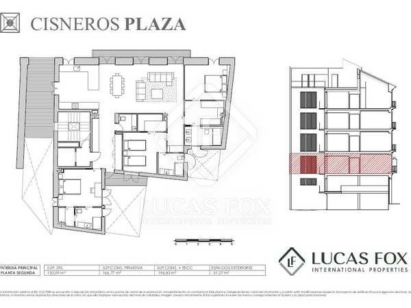 197 m² apartment with 31 m² terrace for sale in La Seu