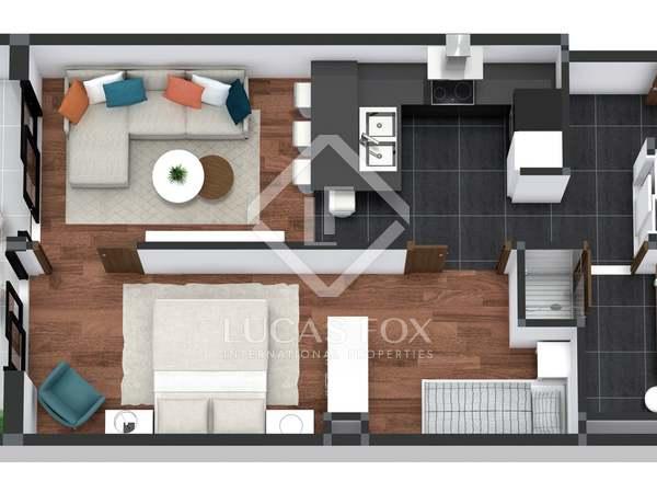 65m² Apartment for sale in Poblenou, Barcelona