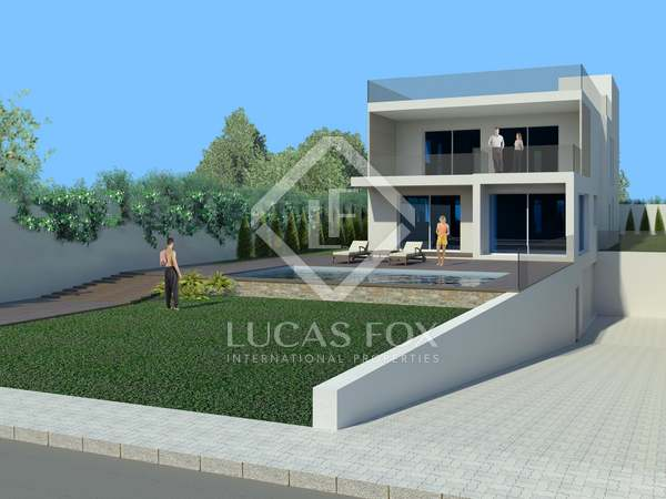 Plot with project to build house with pool, Santa Eulalia