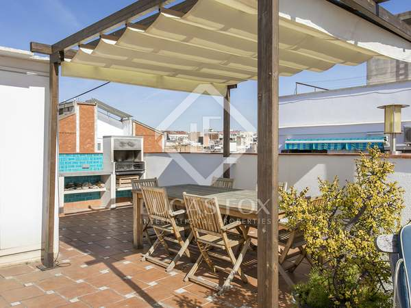 135m² Penthouse with 80m² terrace for rent in Sants