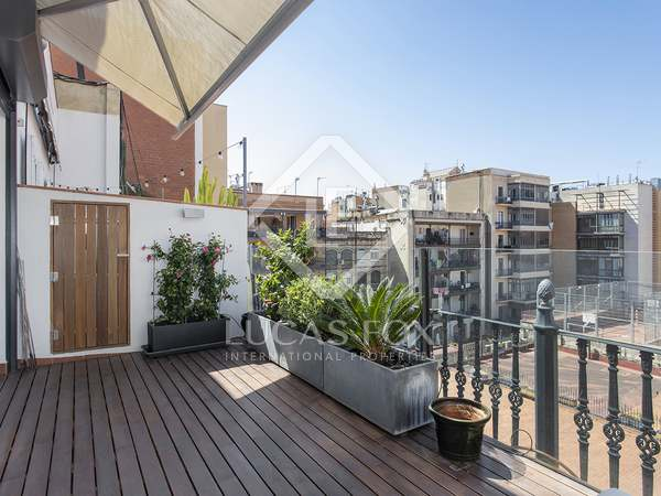 130m² Apartment with 20m² terrace for rent in Eixample Right