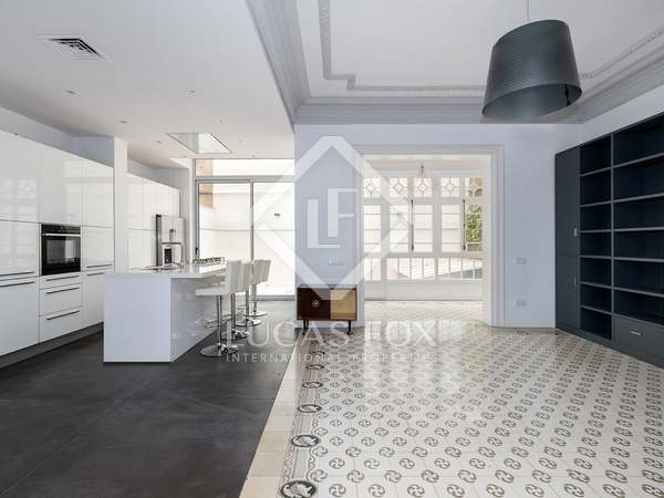 195m² apartment with 20m² terrace for rent in Sant Gervasi