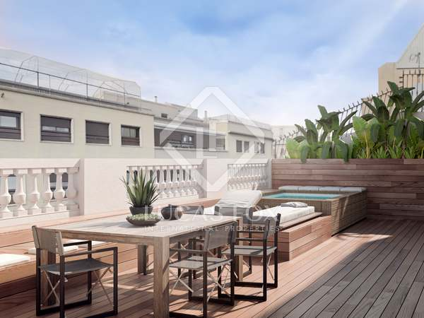 Penthouse van 175m² te koop met 46m² terras in Eixample Rechts