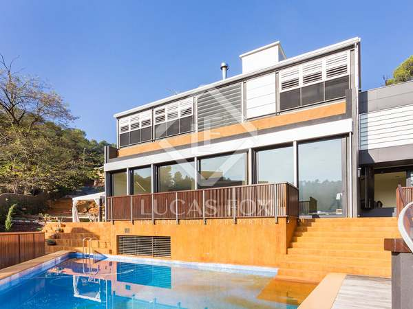 Newly built modern design house to buy, Collserola Barcelona