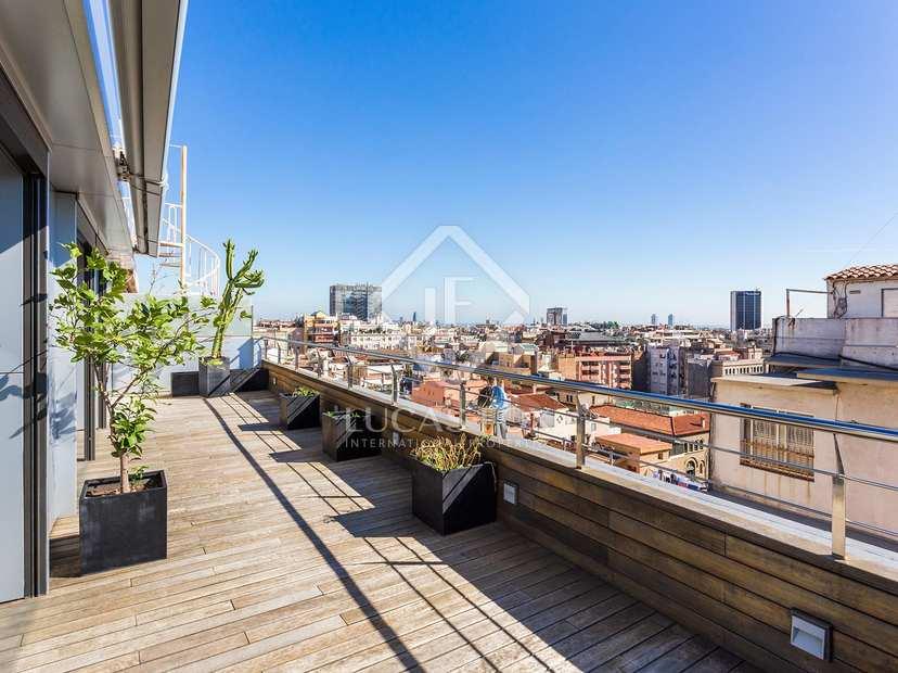 Tico tr plex con terraza en venta sant gervasi barcelona - Atico terraza barcelona ...