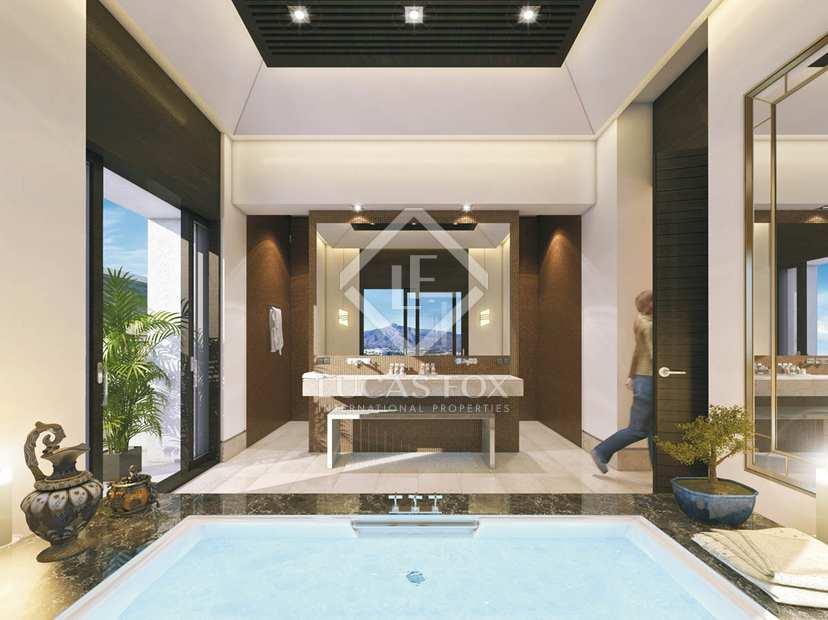 Villa en venta en la zagaleta benahav s for Piscina infinita construccion