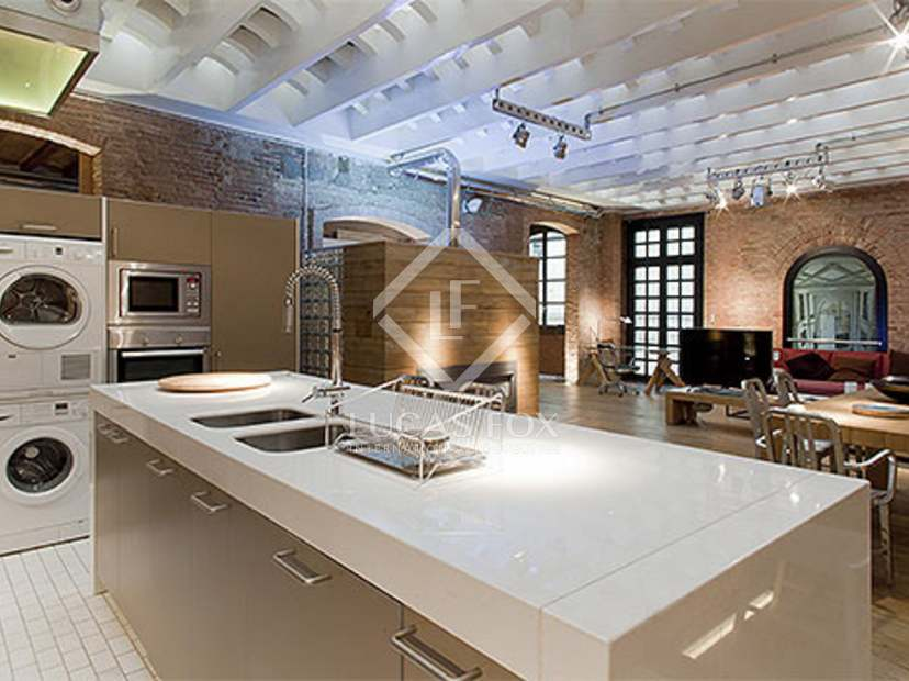 New York Style Loft Apartments For Long Term Rent In The Old Town Barcelona