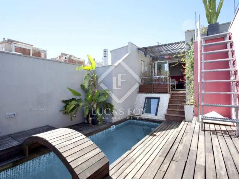 Lujoso tico en venta en la zona alta de barcelona - Atico con piscina ...