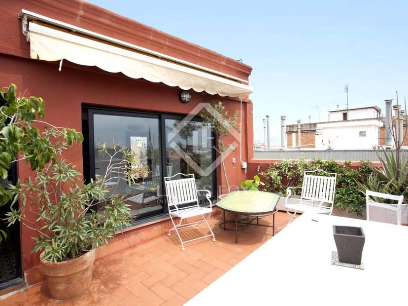 Tico de dos dormitorios con terraza en venta en l - Atico terraza barcelona ...