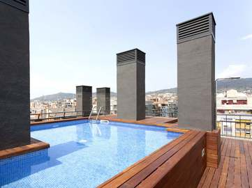 Brand new 3-bedroom designer apartments for sale in Galvany, Barcelona. With communal roof pool